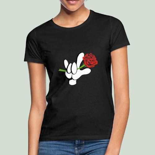 ILY mit Rose - Frauen T-Shirt