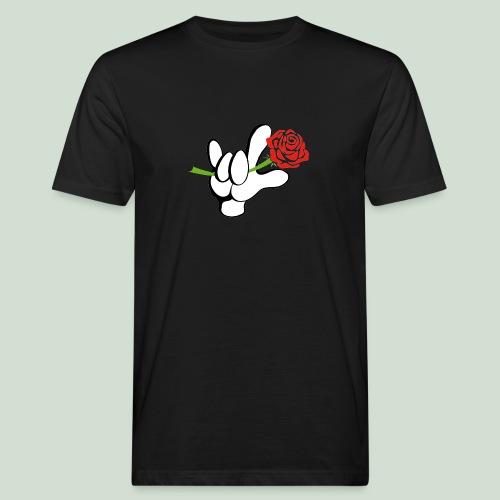 ILY mit Rose - Männer Bio-T-Shirt