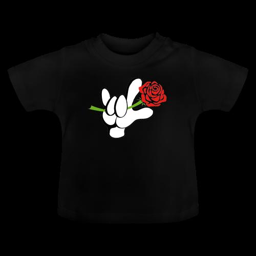 ILY mit Rose - Baby T-Shirt
