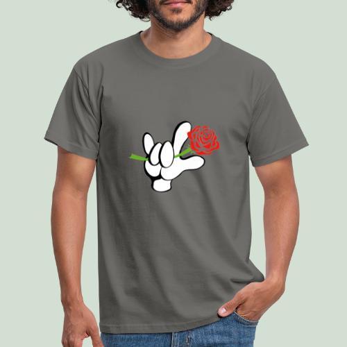 ILY mit Rose - Männer T-Shirt