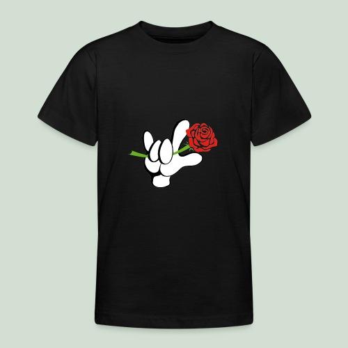 ILY mit Rose - Teenager T-Shirt