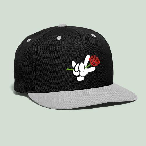 ILY mit Rose - Kontrast Snapback Cap