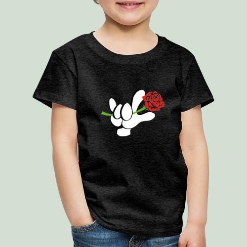 ILY mit Rose - Kinder Premium T-Shirt
