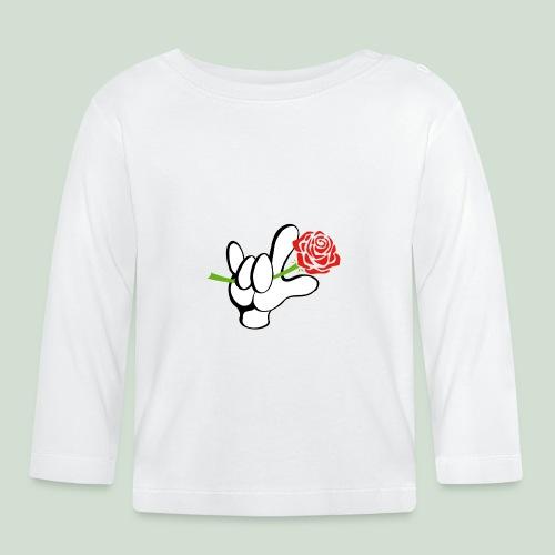 ILY mit Rose - Baby Langarmshirt