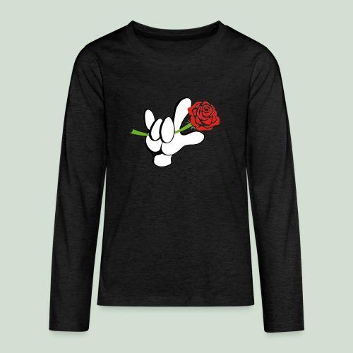 ILY mit Rose - Teenager Premium Langarmshirt