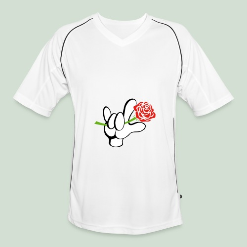 ILY mit Rose - Männer Fußball-Trikot
