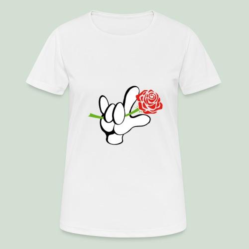 ILY mit Rose - Frauen T-Shirt atmungsaktiv