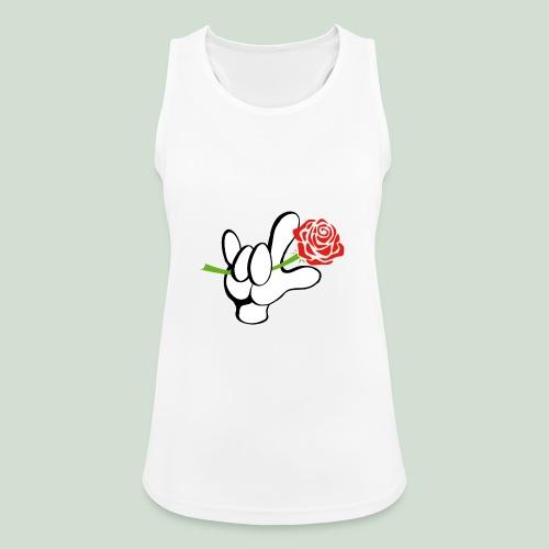 ILY mit Rose - Frauen Tank Top atmungsaktiv