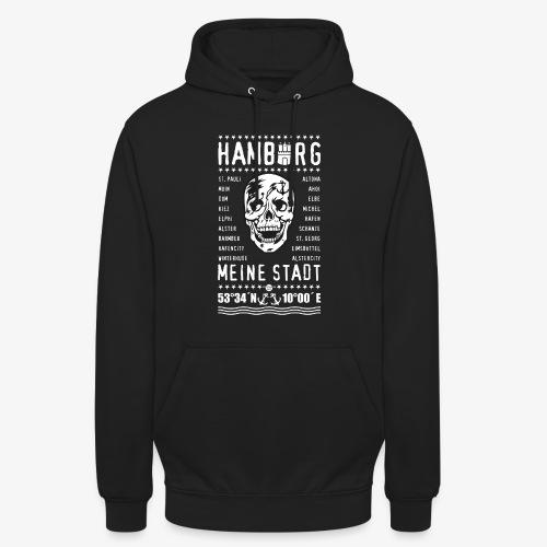 84 Skull Totenkopf Hamburg MEINE STADT Stadtteile - Unisex Hoodie