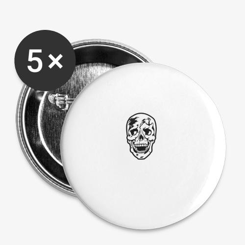84 Skull Totenkopf Hamburg MEINE STADT Stadtteile - Buttons groß 56 mm (5er Pack)