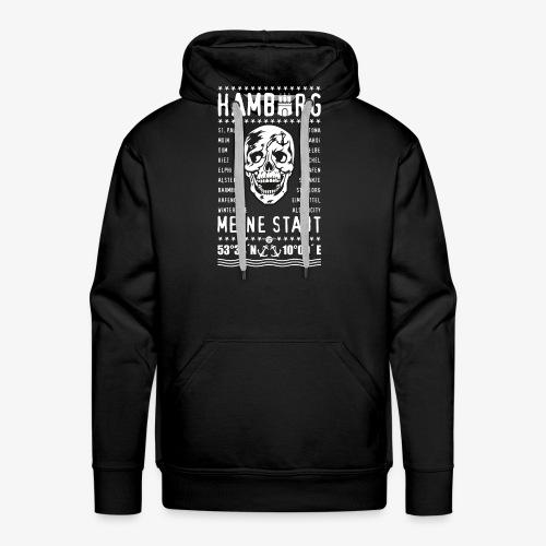 84 Skull Totenkopf Hamburg MEINE STADT Stadtteile - Männer Premium Hoodie