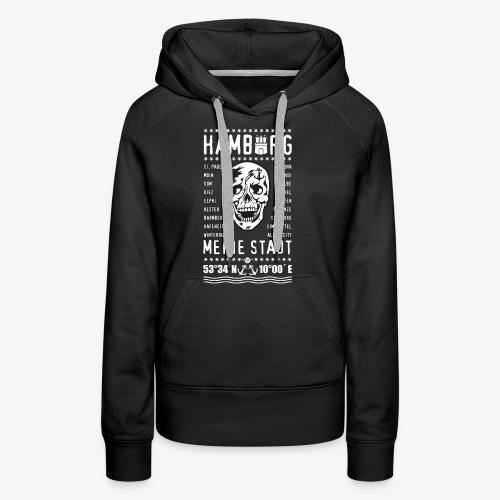 84 Skull Totenkopf Hamburg MEINE STADT Stadtteile - Frauen Premium Hoodie