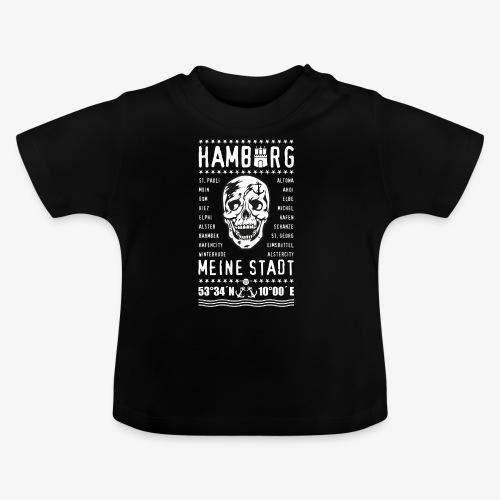 84 Skull Totenkopf Hamburg MEINE STADT Stadtteile - Baby T-Shirt