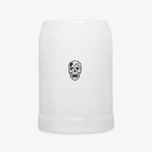 84 Skull Totenkopf Hamburg MEINE STADT Stadtteile - Bierkrug