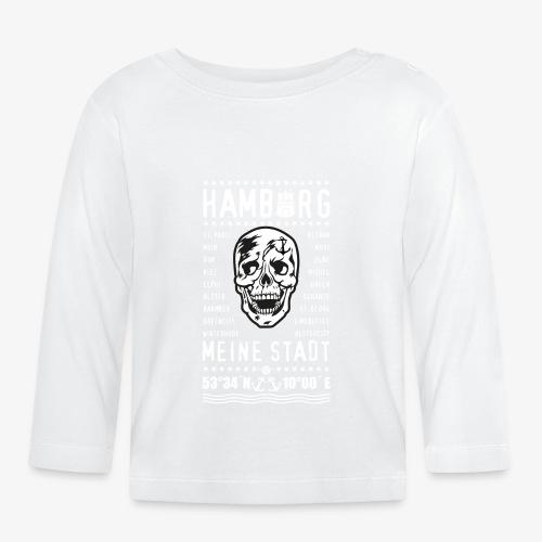 84 Skull Totenkopf Hamburg MEINE STADT Stadtteile - Baby Langarmshirt