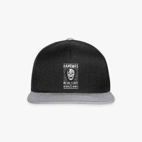 84 Skull Totenkopf Hamburg MEINE STADT Stadtteile - Snapback Cap