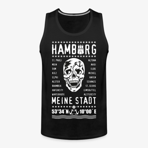 84 Skull Totenkopf Hamburg MEINE STADT Stadtteile - Männer Premium Tank Top