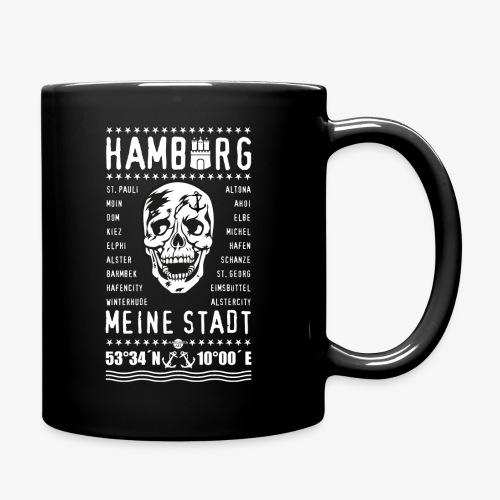 84 Skull Totenkopf Hamburg MEINE STADT Stadtteile - Tasse einfarbig