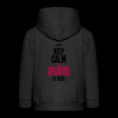 Keep calm... - Kinder Premium Kapuzenjacke