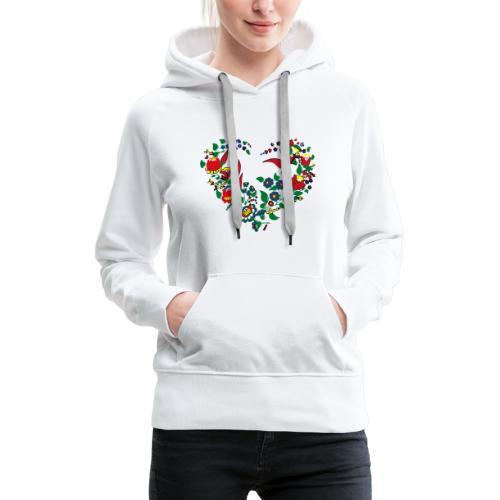 ungarische blumen  - Frauen Premium Hoodie
