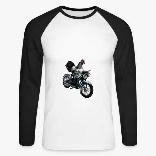 Bantam Biker - Men's Long Sleeve Baseball T-Shirt