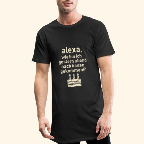 Sprüche T Shirt Alexa, Heimweg - Geschenkidee - Männer Urban Longshirt