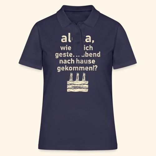 Sprüche T Shirt Alexa, Heimweg - Geschenkidee - Frauen Polo Shirt