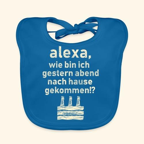 Sprüche T Shirt Alexa, Heimweg - Geschenkidee - Baby Bio-Lätzchen