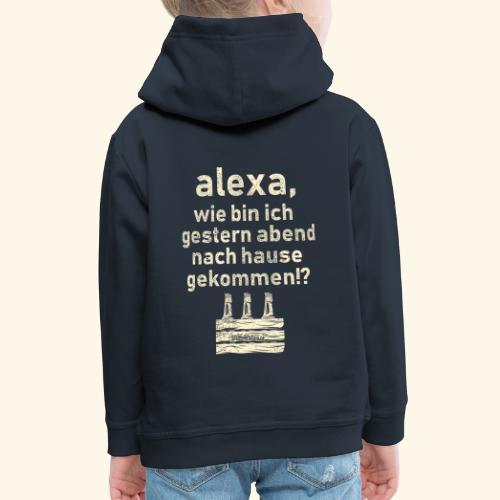 Sprüche T Shirt Alexa, Heimweg - Geschenkidee - Kinder Premium Hoodie