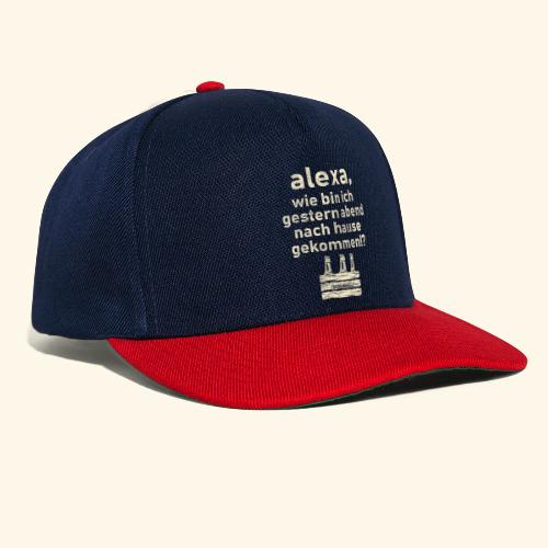 Sprüche T Shirt Alexa, Heimweg - Geschenkidee - Snapback Cap