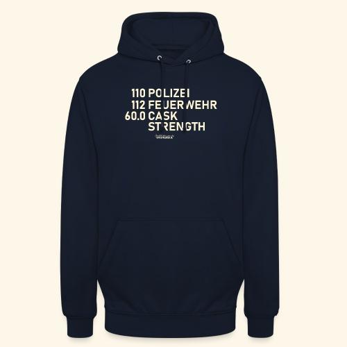 Whisky T Shirt Cask Strength Notfall - Geschenkidee - Unisex Hoodie