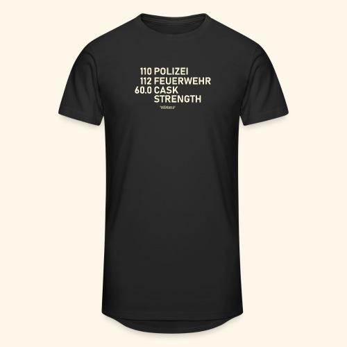 Whisky T Shirt Cask Strength Notfall - Geschenkidee - Männer Urban Longshirt