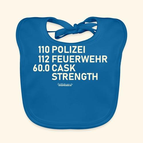 Whisky T Shirt Cask Strength Notfall - Geschenkidee - Baby Bio-Lätzchen