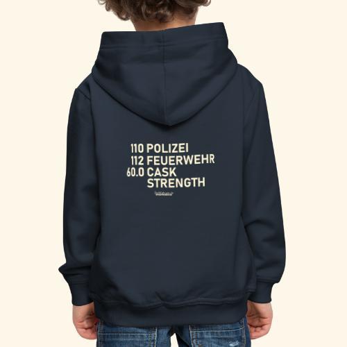 Whisky T Shirt Cask Strength Notfall - Geschenkidee - Kinder Premium Hoodie