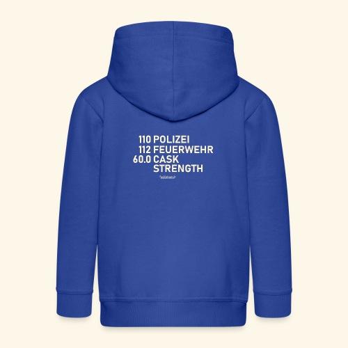 Whisky T Shirt Cask Strength Notfall - Geschenkidee - Kinder Premium Kapuzenjacke