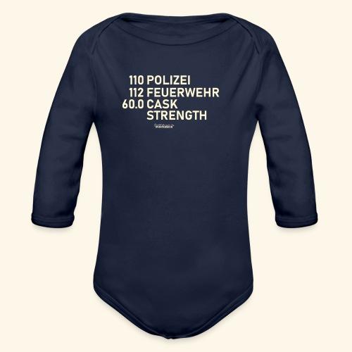 Whisky T Shirt Cask Strength Notfall - Geschenkidee - Baby Bio-Langarm-Body
