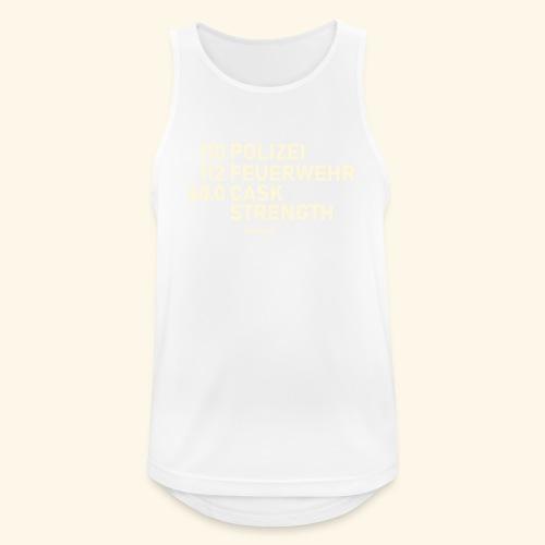Whisky T Shirt Cask Strength Notfall - Geschenkidee - Männer Tank Top atmungsaktiv