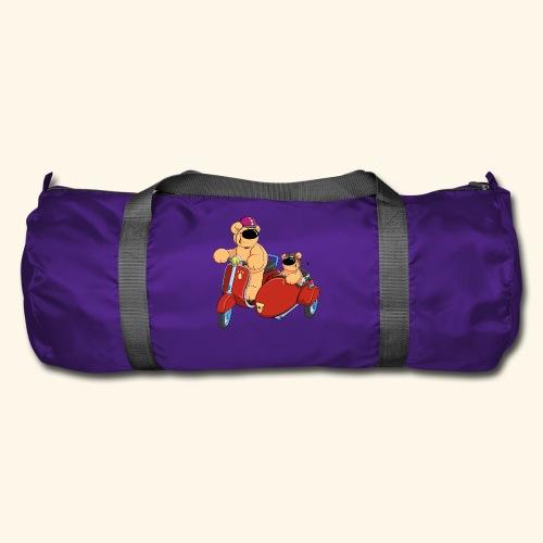 Zwei Bären fahren Roller - Sporttasche