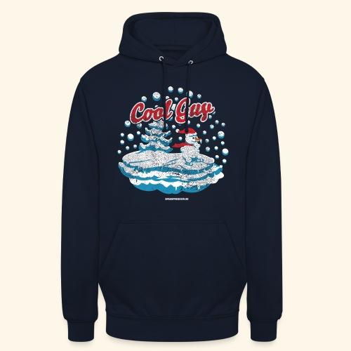 Apres Ski T Shirt cooler Schneemann beim Wintersport - Unisex Hoodie