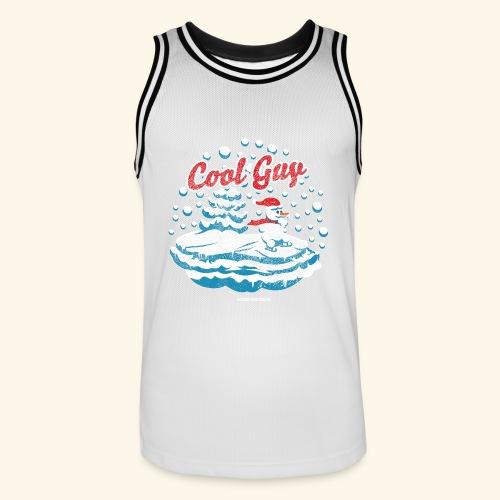 Apres Ski T Shirt cooler Schneemann beim Wintersport - Männer Basketball-Trikot