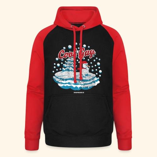 Apres Ski T Shirt cooler Schneemann beim Wintersport - Unisex Baseball Hoodie