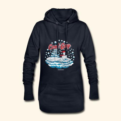 Apres Ski T Shirt cooler Schneemann beim Wintersport - Hoodie-Kleid