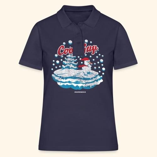 Apres Ski T Shirt cooler Schneemann beim Wintersport - Frauen Polo Shirt
