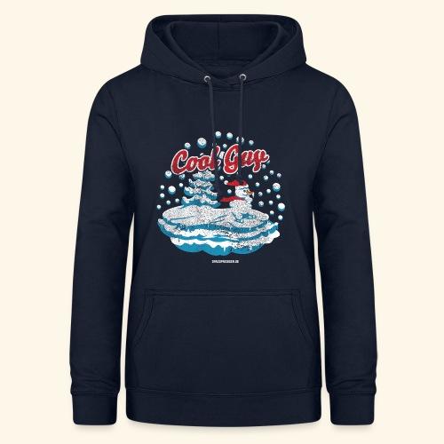 Apres Ski T Shirt cooler Schneemann beim Wintersport - Frauen Hoodie