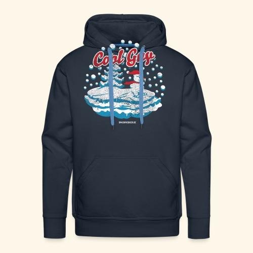 Apres Ski T Shirt cooler Schneemann beim Wintersport - Männer Premium Hoodie