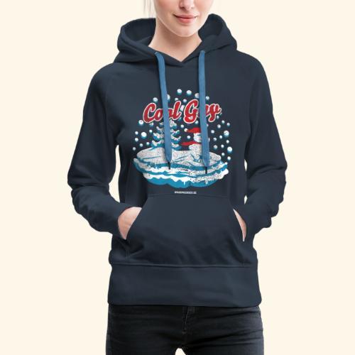 Apres Ski T Shirt cooler Schneemann beim Wintersport - Frauen Premium Hoodie