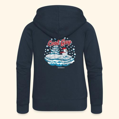 Apres Ski T Shirt cooler Schneemann beim Wintersport - Frauen Premium Kapuzenjacke