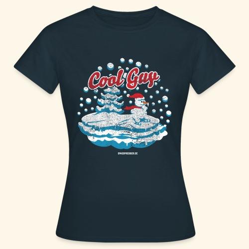 Apres Ski T Shirt cooler Schneemann beim Wintersport - Frauen T-Shirt