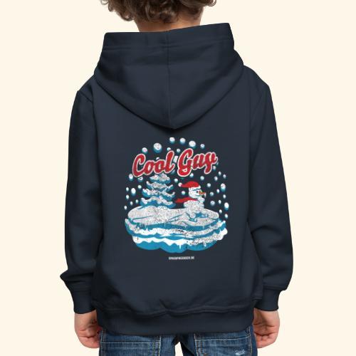 Apres Ski T Shirt cooler Schneemann beim Wintersport - Kinder Premium Hoodie
