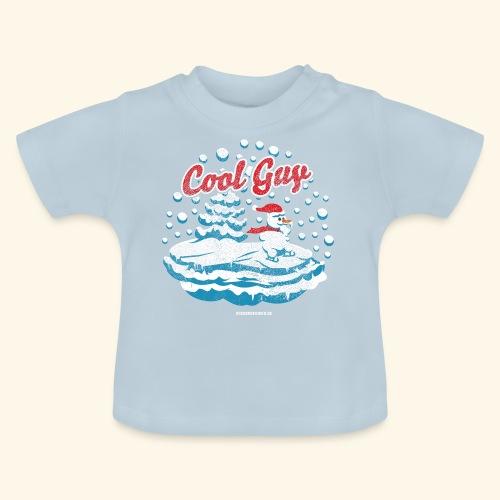Apres Ski T Shirt cooler Schneemann beim Wintersport - Baby T-Shirt